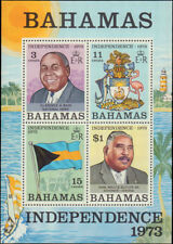 1973 Bahamas #351a, Complete Souvenir Sheet Only, Never Hinged