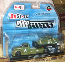 2009 Maisto All Stars Elite Transport Military Flatbed & M2 Bradley IFV 1-64 8+