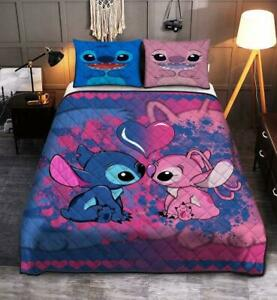 Stitch And Lilo Love Quilt Bed Set