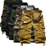 Mens Summer Outdoor Cargo Pockets Pants Below Knee Army Combat military Shorts