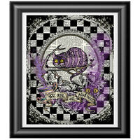CHESHIRE CAT Tattoo Edition Art Print on Dictionary Book Page Picture