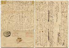 BURMA 1828 SOLDIERS LETTER WAR OCCUPATION WILLIAM BATTINSON MADRAS SHIP LETTER