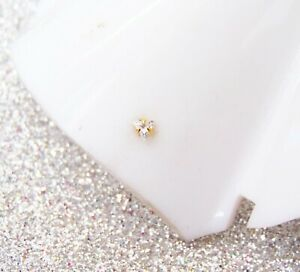 Nose Ring 22K Gold Plated Indian Designer Tiny Triangle Nose Pin Christmas Sale