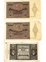 1923 German 5 Million & 2 Million Reichsbanknote 5,000,000 & 2,000,000 Millionen