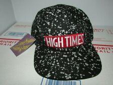 High Times Magazine 5 Panel Black Speckle Strapback Cap Baseball Hat Size L/XL