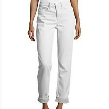 Helmut Lang Womens Relaxed Tapered Jeans 27 Mid Rise White Vintage New $310