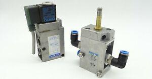 "2x Magnetventil FESTO MFH-3-1/4 Pneumatikventil 3/2-Wegeventile 9964 G 1/4"" 8bar"