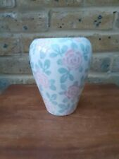Vase, ceramic, made in Italy, floral pattern