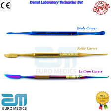 Professional Zahle Beale Lecron Wax And Modeling Carvers Dental Laboratory Tools