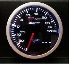 60mm Depo Racing 2 in 1 Turbo Boost & Water or Oil Temp Gauge WA60134B universal