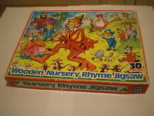 Nursery Rhyme jigsaw puzzle. (3) 30 wood pieces. Made In England by Castile. VGC