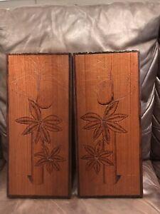 Jan Fleck Signed Wood Etchings Vintage