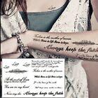 5 pcs Temporary Tattoo Popular Waterproof Tattoos Sticker Body Art