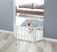 Etna Adjustable Foldable 3-Section Wooden Hearts Pet Gate