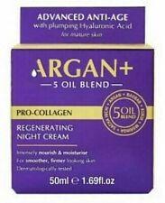 ARGAN+ 5 Oil Blend Pro-Collagen Regenerating Night Cream Anti-ageing, 50ml