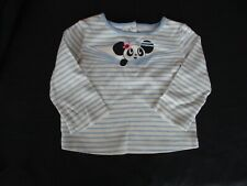 GARANIMALS Baby Girls 24 Month Long Sleeve Snowman Black Ruffled Hem Shirt NWT