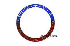 HIGH QUALITY PEPSI BLUE & RED WHITE NUMBERS BEZEL INSERT FOR ROLEX GMT MASTER II