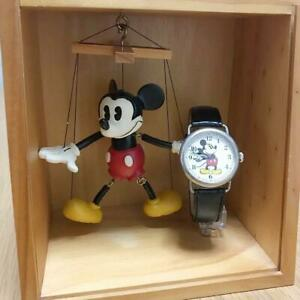 Fossil and Disney collaboration Wrist Watch Mickey & CO Used Puppet Wooden Box