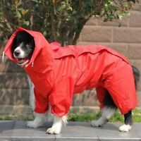 Pet Big Dog Raincoat Waterproof Clothes for Small Large Dogs Jumpsuit Rain Coat