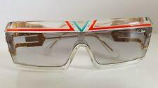 Rare Vintage 1980s CAZAL 856 244 Visor Sunglasses Grenadine White Pale Green