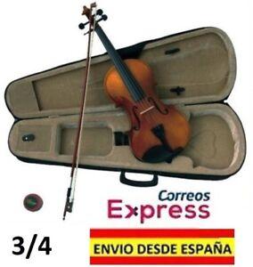 Violin 3/4 set Completo con Estuche Arco Resina Funda pack. Niños de 9 a 12 años