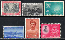 INDIA 1951-57 SELECTION OF 6 SINGLE STAMPS SCOTT #232/291 MLH