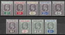 British Virg Islands stamps 1904 SG 54-62 MLH VF