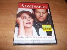 Admission (DVD, 2013) Michael Sheen Tina Fey Paul Rudd Comedy Movie NEW