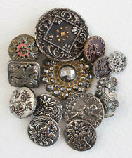 Small collection antique metal buttons - Deccan