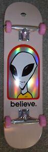 8.125 almost 8.0 Alien Workshop complete skateboard deck pre built pink wheels