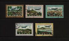 1960 - MACAU / MACAO - AIR POST STAMPS - Views - AF 16 to 20 = Sc C16 to C20