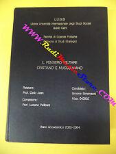 book libro Simone Simonacci IL PENSIERO MILITARE CRISTIANO E MUSULMANO tesi(LG1)