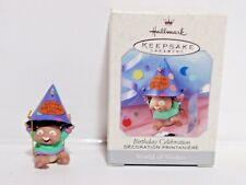 Birthday Celebration hallmark ornament world of wishes mouse 1999 QEO8409 MIB