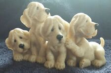 """Quarry Critters """"Puzzled"""" Puppy Family Second Nature Design 2001 #50244"""