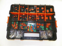 678 PC BLACK OEM DEUTSCH DT CONNECTOR KIT SOLID CONTACTS + REMOVAL TOOLS