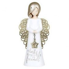 "YOU ARE AN ANGEL ""THE BEST THINGS IN LIFE ARE FRIENDS "" ASF004 MINT IN BOX"