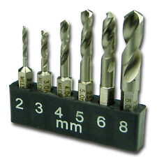 Stubby Bit Set - short drill bits for working in tight spaces - 6 drills - 2370