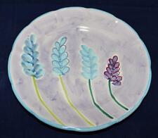 Solimene Designers Guild Vietri Italy Lavender Purple Blue Flowers Dinner Plate