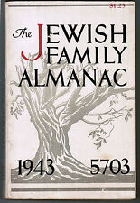 JUDAICA JEWISH FAMILY ALMANAC 1943 5703 HOLOCAUST ERA ILLUSTRATED