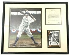 "Babe Ruth Framed Photo & Card "" King Of Swat"" Color Print Kelly Russell Studios"