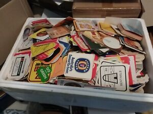 HUGE LOT OF VINTAGE BEER COASTERS 1980'S MANY GV AREA OVER 450 COASTERS !
