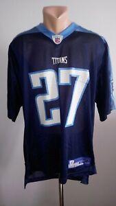 EDDIE GEORGE #27 Tennessee Titans Jersey NFL Shirt Reebok Vintage Rugby Size M