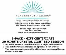 3-PACK 30 Minute Crystal Light Bed Session GIFT CERTIFICATE INCLUDES BONUS 2FOR1