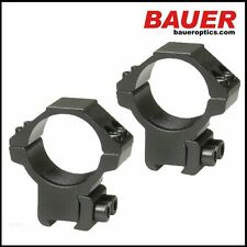 Bauer Scope Mounts - Aluminium 11mm Dovetail, 30mm Rings Rings (14mm High)