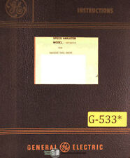 Gilman Giddings & Lewis BP2020, Balancer Control Manual 1982