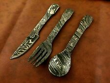 Handmade Damascus Steel Cutlery Set of 3-Ideal Gift