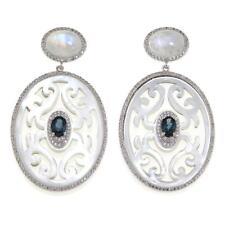 Rarities Sterling Silver 3.67ct Multigemstone Carved Pierced Earrings HSN $249