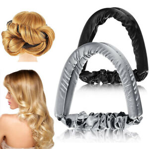 Non-Heat Lazy Hair Curler Band Curling Rod Headband Silk Ribbon Styling Rollers
