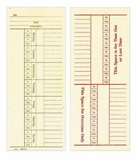 """Adams Time Cards, Weekly, 2-Sided, Overtime Format, 3-3/8"""" x 8-1/4"""", Manila, Gre"""