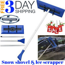 Snow Joe Car Windshield Telescoping foam Ice Scraper 18' Snow Broom Removal Tool